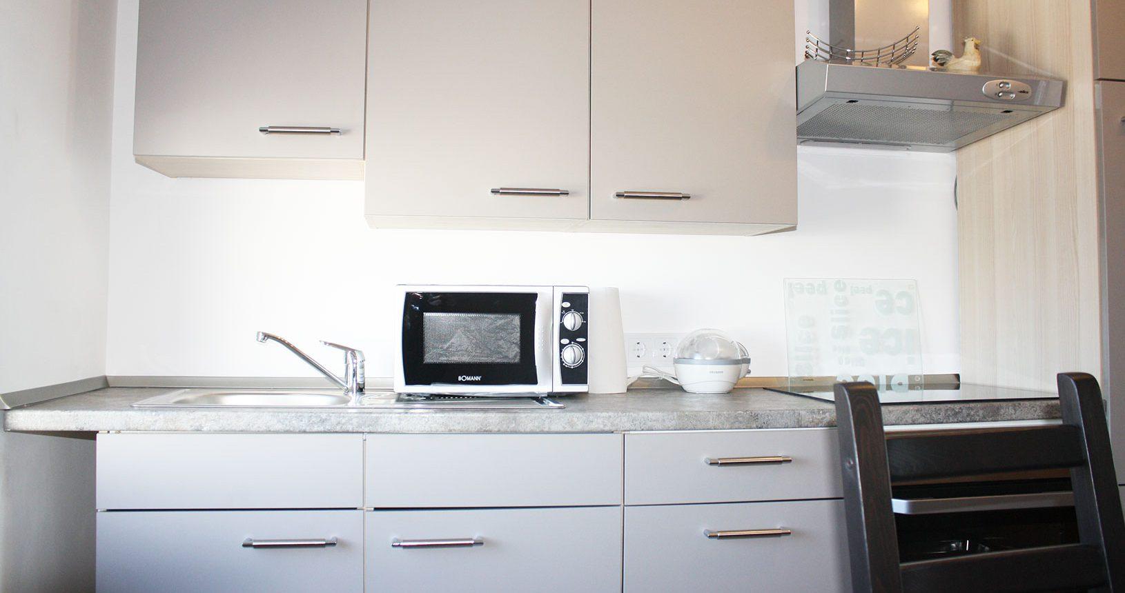 Küche in Ferienwohung auf dem Heeser Spargelhof