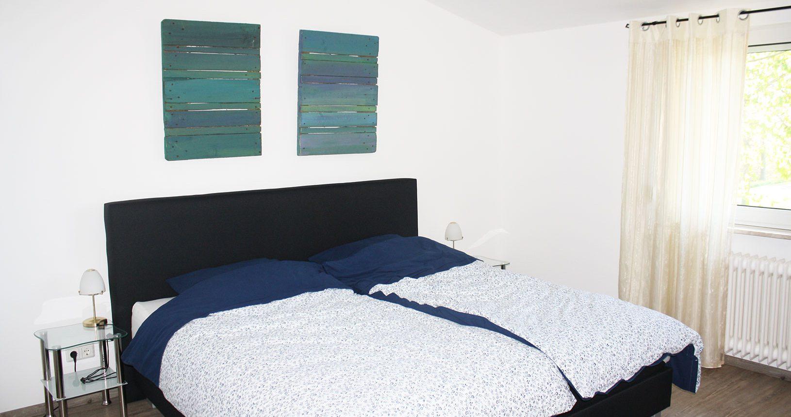 Schlafzimmer in Ferienwohung auf dem Heeser Spargelhof