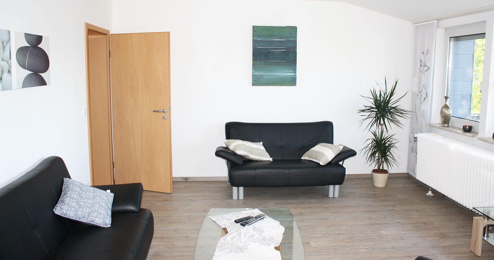 Wohnzimmer in Ferienwohung auf dem Heeser Spargelhof